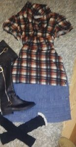 Bundle of 4  shirt/ Skirt /boots/Leg warmers